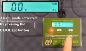 zoo med reptibator alarm mode setup