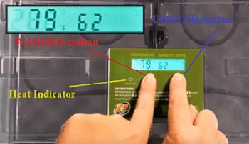 zoo med reptibator temperature scale setup